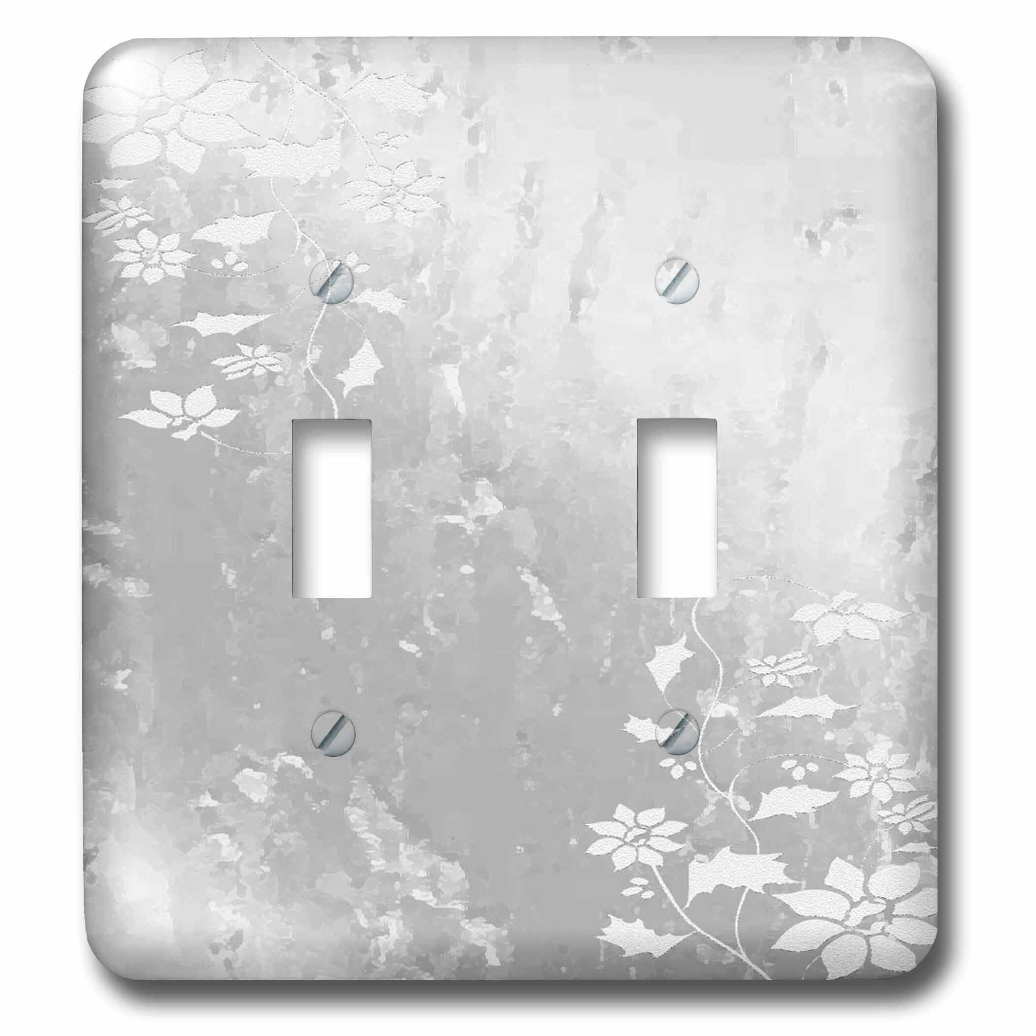 3drose Flowers 2 Gang Toggle Light Switch Wall Plate Reviews Wayfair