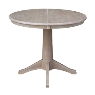 Cochrane Extension Pedestal Solid Wood Dining Table by Ophelia & Co. Fresht