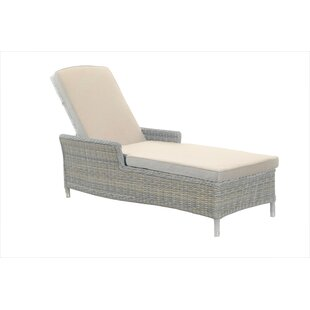 Ridgemoor Reclining Sun Lounger With Cushion Image