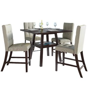 Grayslake 5 Piece Wood Counter Height Dining Set..