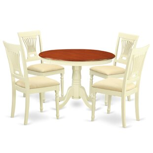 Artin 5 Piece Solid Wood Dining Set