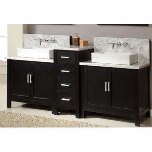 Horizon 84 Double Premium Bathroom Vanity Set with Mirror by Direct Vanity Sink