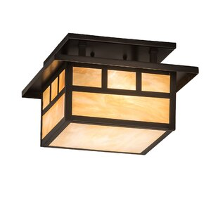 Bloomsbury Market Almont Square 2-Light Semi Flush Mount