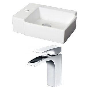 Royal Purple Bath Kitchen Ceramic Rectangular Vessel Bathroom Sink with Faucet