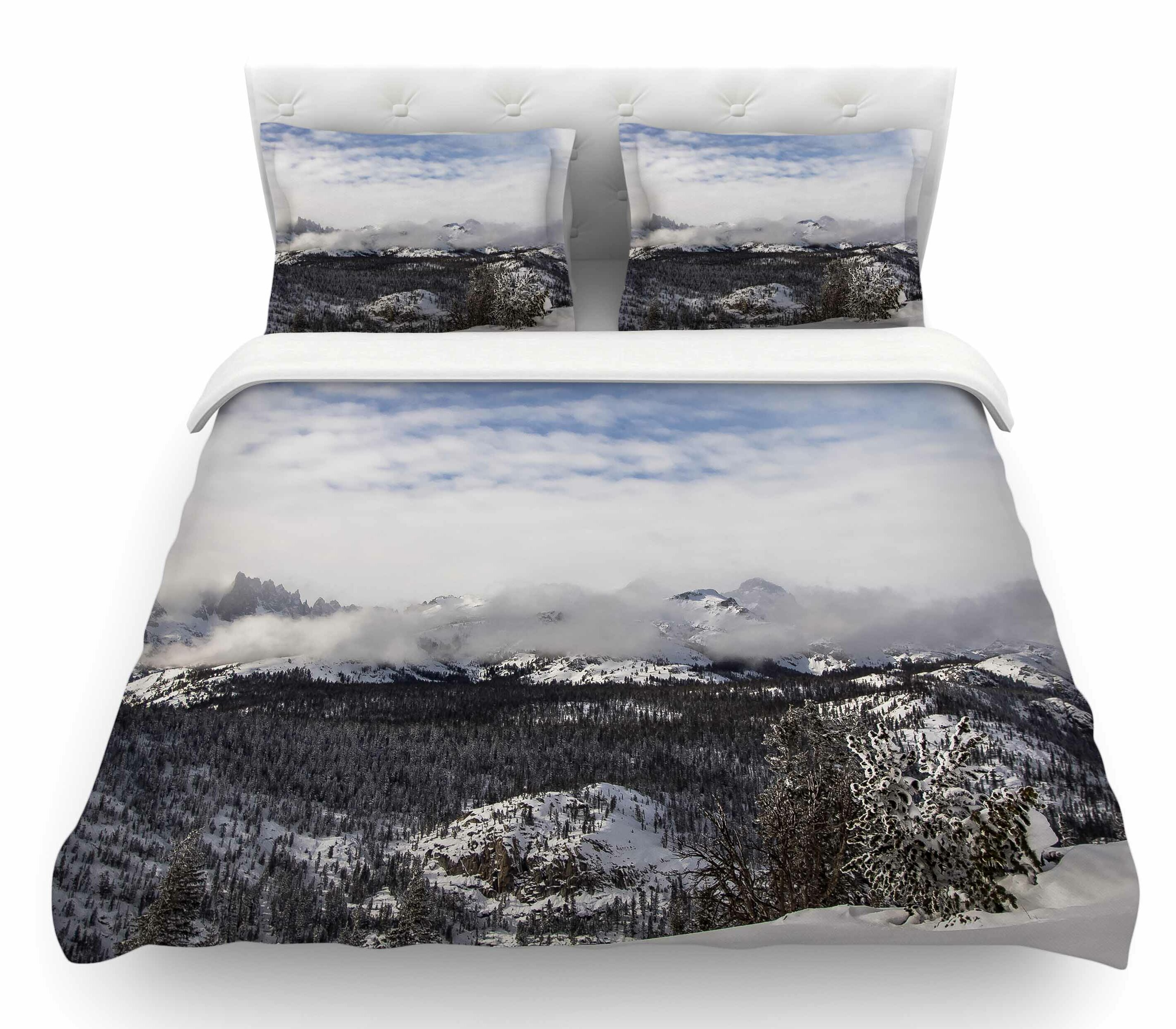 Angie Dickinson Oops top of the summitjuan paolo featherweight duvet cover