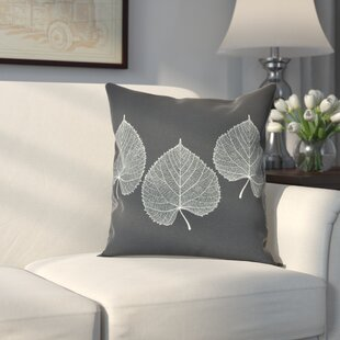 Leatham Leaf Floral Throw Pillow