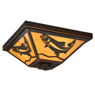 Loon Peak Lane 3-Light Outdoor Flush Mount