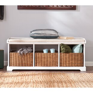 Read Reviews Lindell Wood Storage Bench By Beachcrest Home