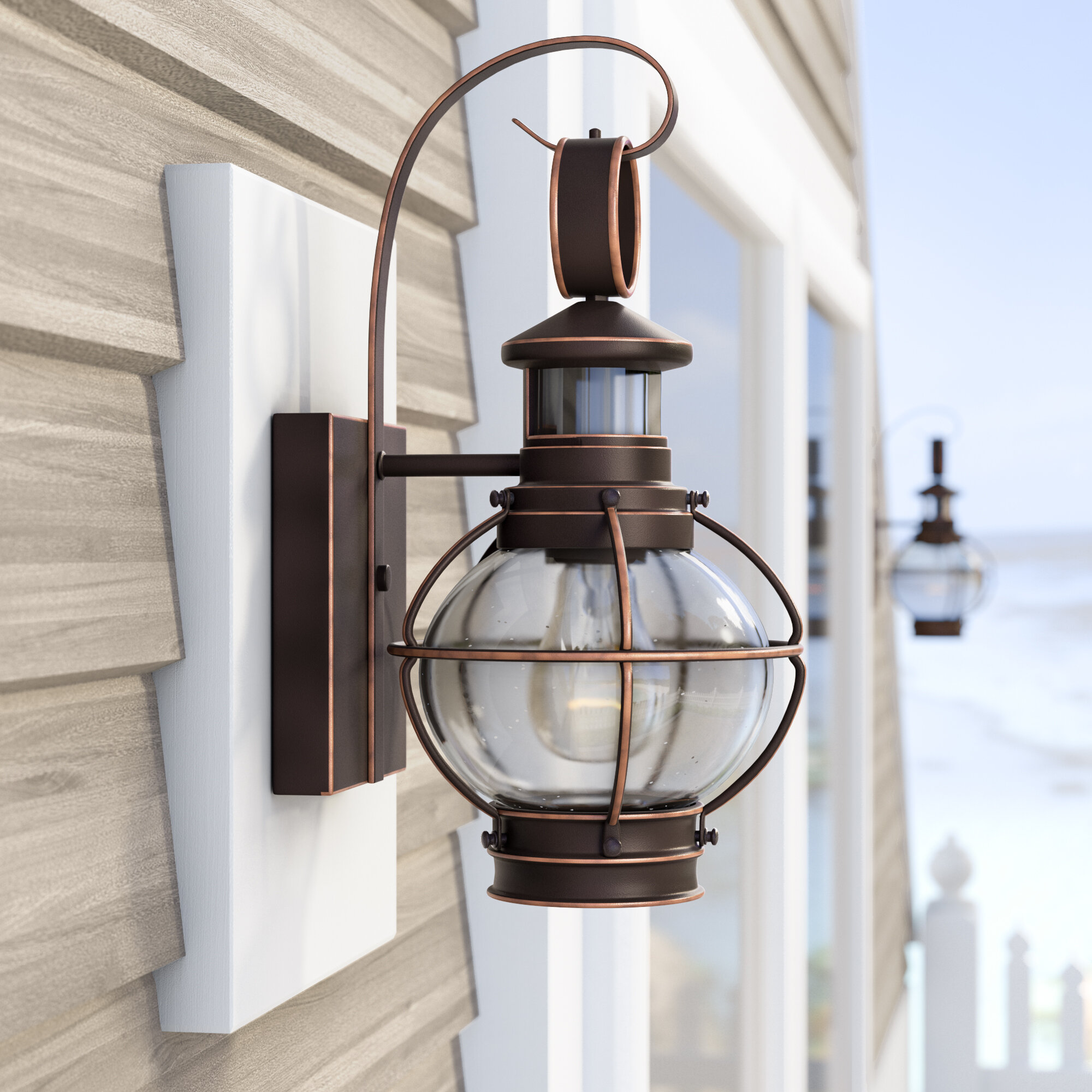 Motion Sensor Outdoor Wall Lighting You Ll Love In 2020 Wayfair