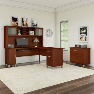 Kirchoff 3 Piece L-shaped Desk Office Suite by Ebern Designs #2