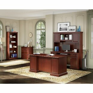 Affordable Bennington 5 Piece Desk Office Suite By Kathy Ireland Office by Bush