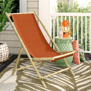 Atalya Folding Bamboo Relax Sling Beach Chair by Bayou Breeze