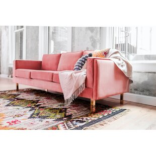 Velvet Tufted Blush Pink Sofa Wayfair
