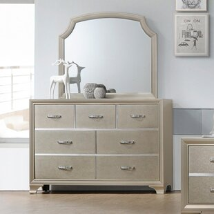 Affordable Price Harbin 7 Drawer Dresser with Mirror by House of Hampton