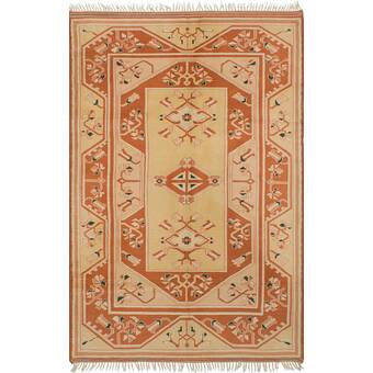 Bloomsbury Market One Of A Kind Zimmermann Hand Knotted 2010s Red Green Blue 5 X 8 1 Wool Area Rug Wayfair