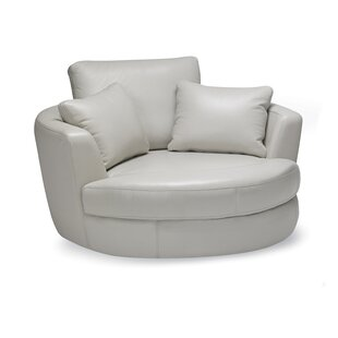 Mojica Swivel Barrel Chair by Latitude Run