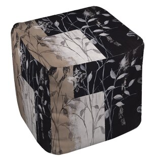 African Leaf Abstract Pouf by Manual Woodworkers & Weavers