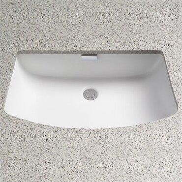 Undermount Rectangular Bathroom Sink toto soirée rectangular undermount bathroom sink with overflow