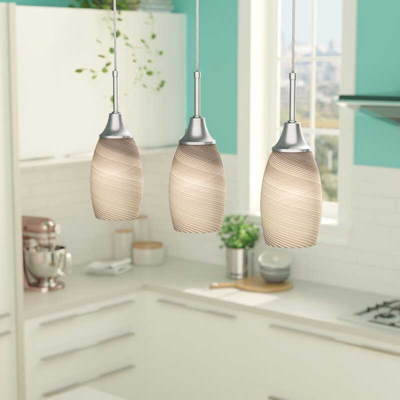 Laude Run Centralia 3-Light Kitchen Island Pendant & Reviews ... on