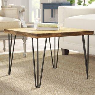 Gracie Oaks Nadin Rustic Old Elm Coffee Table