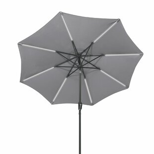 Freeport Park Sinclair 9' Patio LED Light Market Umbrella