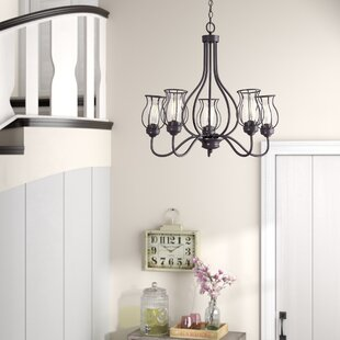 Laurel Foundry Modern Farmhouse Sage 5-Light Shaded Chandelier