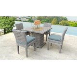 Kara Square 5 Piece Dining Set with Cushions