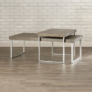 Asine 2 Piece Nested Coffee Table Set by Mercury Row