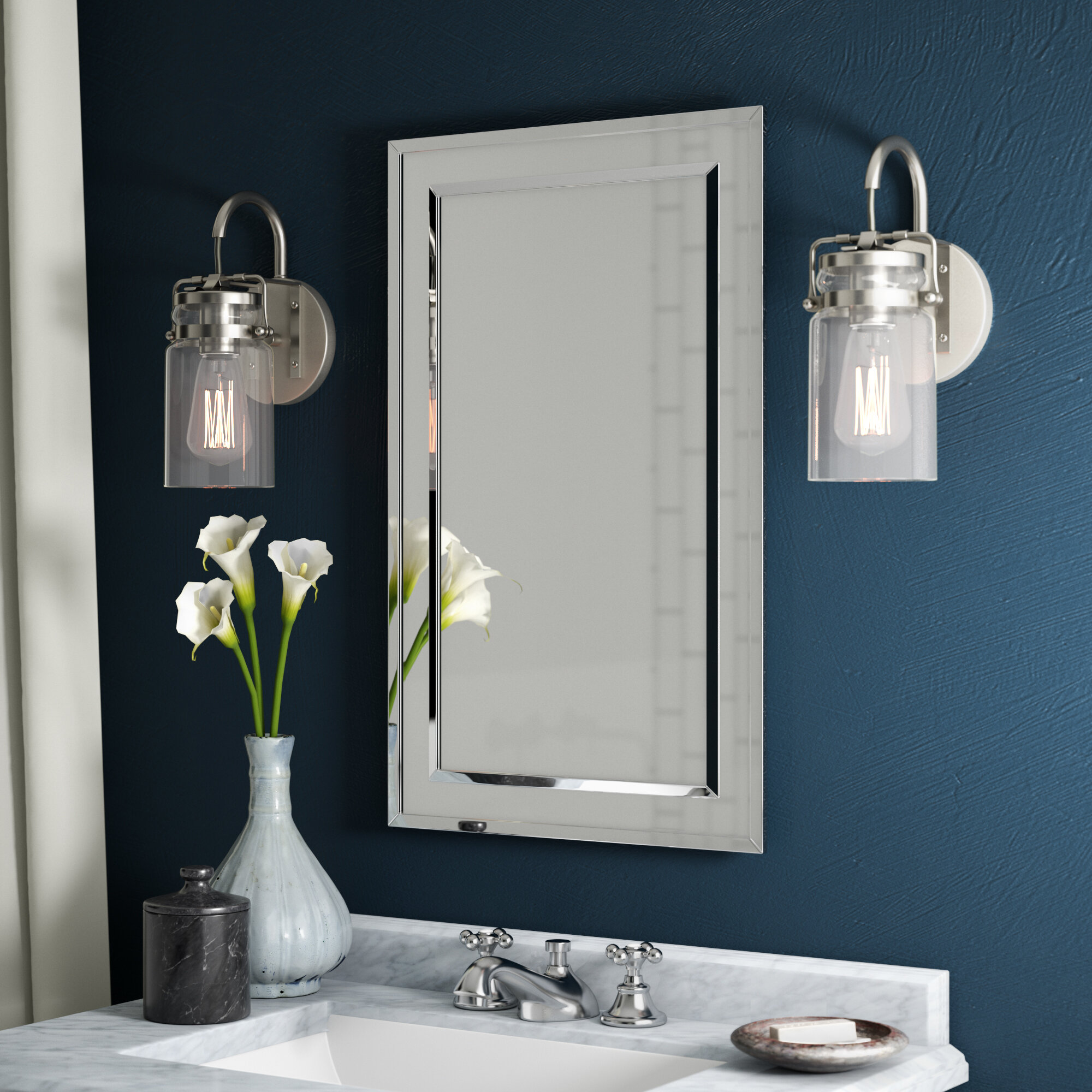 Greyleigh Graford 16 X 26 Recessed Framed Medicine Cabinet With