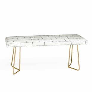 Brick Imperfection Upholstered Bench by E..