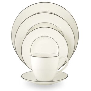 Continental Dining Platinum Bone China 5 Piece Place Setting Set, Service  For 1