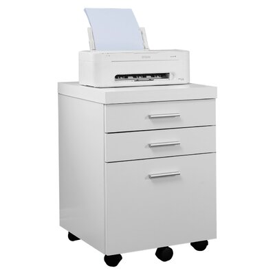 Comm Office Barnaton 3-Drawer Mobile Lateral File Color: White