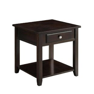 Reviews Donner End Table with Storage by Red Barrel Studio