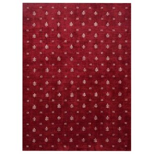 Bargain Seidman Contemporary Hand-Knotted Silk Red/White Area Rug By Bloomsbury Market