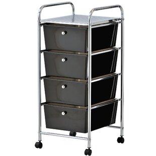 Cisneros 4 Drawer Storage Utility Cart By Symple Stuff
