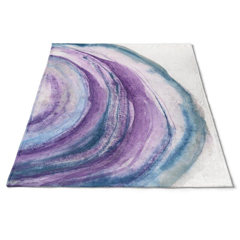 East Urban Home Watercolor Geode I Blanket Wayfair
