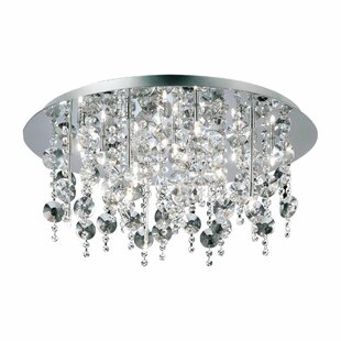 Eurofase Glassia Eighteen Light Semi Flush Mount