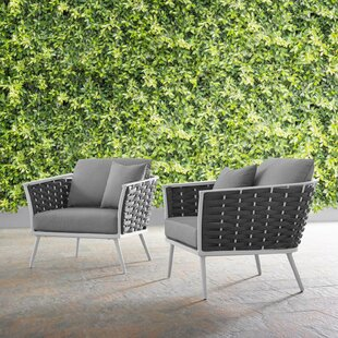 Rossville Patio Chair with Cushions (Set of 2)