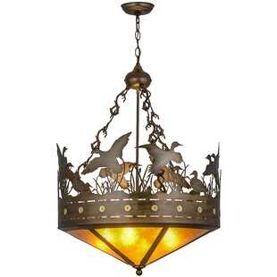Meyda Tiffany Greenbriar 4-Light Bowl Pendant