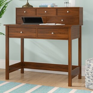 Strickland Secretary Desk with Hutch by Beachcrest Home