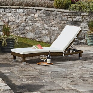 Taifa Reclining Sun Lounger With Cushion Image