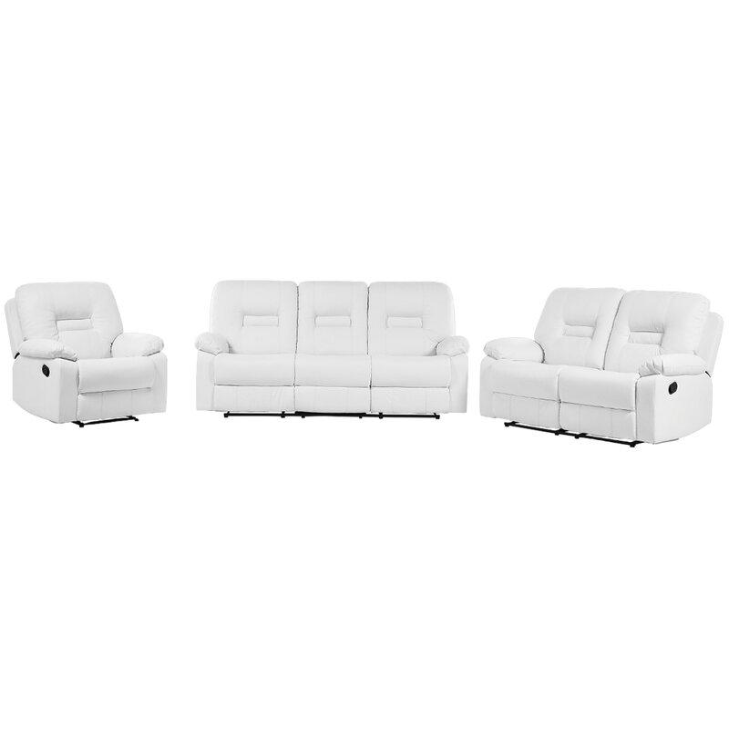 Wiegand 3 Piece Reclining Sofa Set