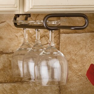 Buy clear Hanging Wine Glass Rack By Rev-A-Shelf