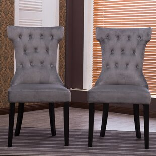 Belleze Premium Upholstered Dining Chair (Set of 2)