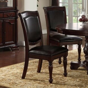 Gledhill Traditional Upholstered Dining Chair (Set of 2) Fleur De Lis Living