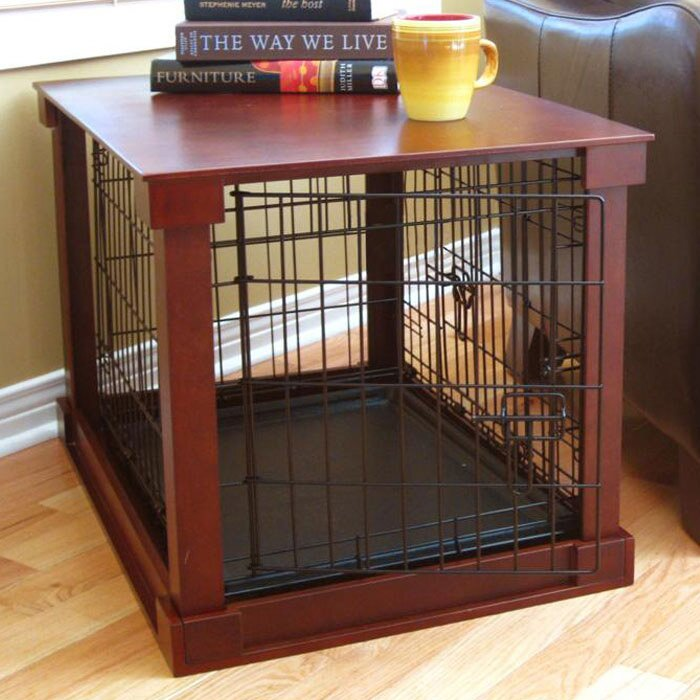 Exceptional Deluxe Pet Crate In Brown