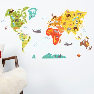 Large world map wall decal wayfair world map wall decal gumiabroncs Image collections