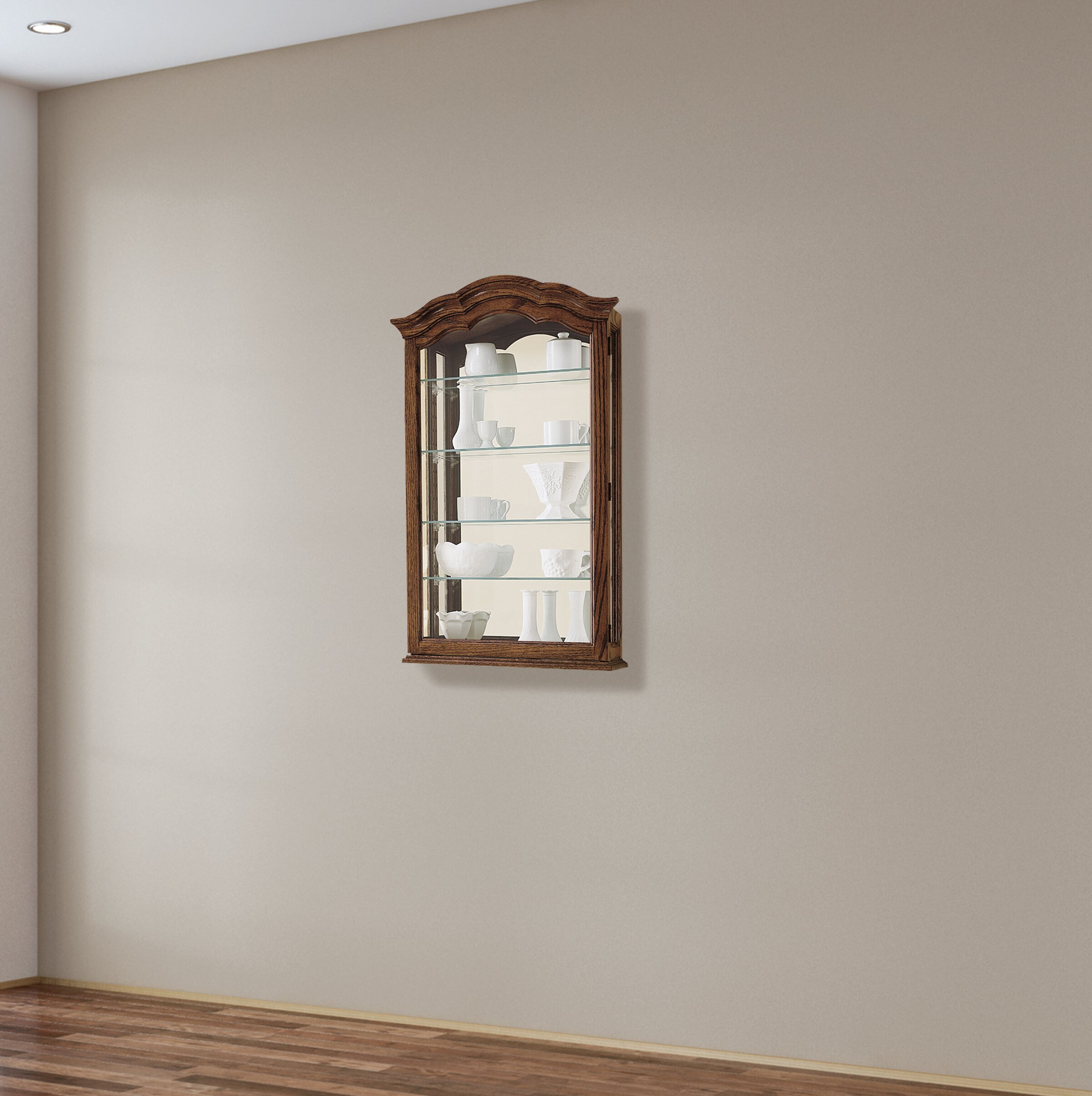 Brammer Wall Mounted Curio Cabinet