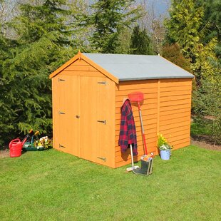 6 Ft. W X 8 Ft. D Overlap Apex Wooden Shed By WFX Utility