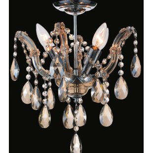 Potnis 4-Light Semi Flush Mount by Astoria Grand